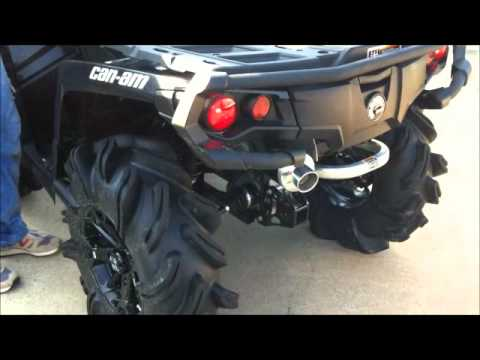 Can Am Outlander 1000 Xmr >> Can Am Outlander 1000XT - LTE Slip On - YouTube