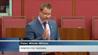 Senator Whish-Wilson talks on the Greens War Powers Bill