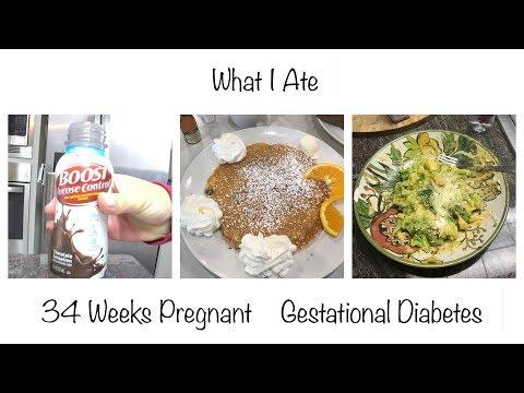 What I ate | Gestational Diabetes | 34 Weeks Pregnant | Glucose Checks | Vegetarian