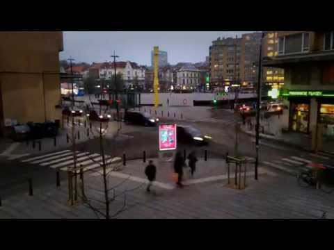 Time Lapse Place Flagey - getting dark