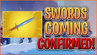 *LEAKED* SWORDS COMING TO FORTNITE! Melee Weapons Confirmed By Data Miners! *FUTURISTIC WEAPONS*