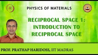 Reciprocal Space 1: Introduction to Reciprocal Space