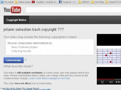 Bach musical composition administered by Music Publishing Rights Collecting Society ?!?!?!
