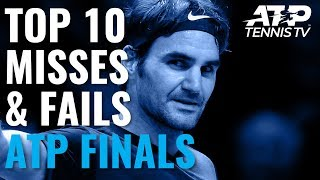 Top 10 Funniest Misses & Fails from the ATP Finals!