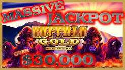 BUFFALO GOLD MASSIVE JACKPOT HANDPAY OVER $30K ⭐️$90 MAX BET SPINS ONLY SESSION SLOT MACHINE CASINO