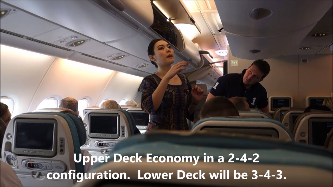 Singapore Airlines SQ 317 Upper Deck Economy SG50 Plane ...