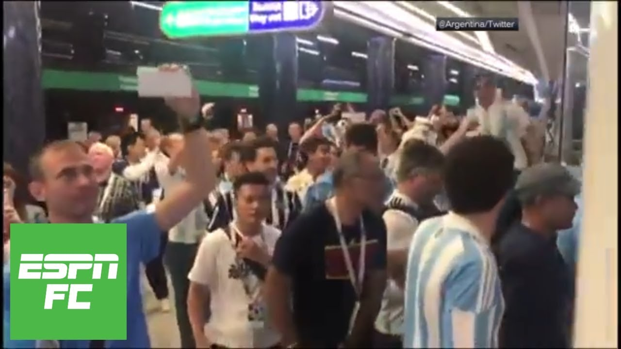 Argentina fans go wild after Marcos Rojo's winning goal vs. Nigeria at 2018 World Cup | ESPN FC