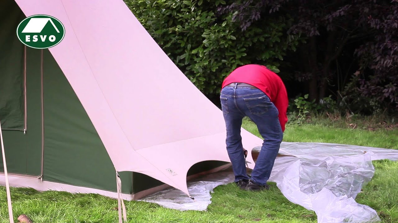 & How to set up a Pyramid tent - YouTube