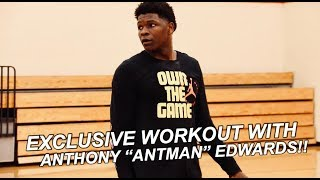 EXCLUSIVE WORKOUT WITH THE #1 PLAYER IN THE NATION!! | ANTHONY EDWARDS FULL WORKOUT