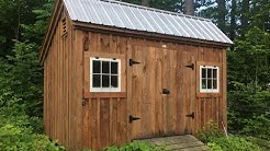 10x16 Salt Box Three Sled Shed