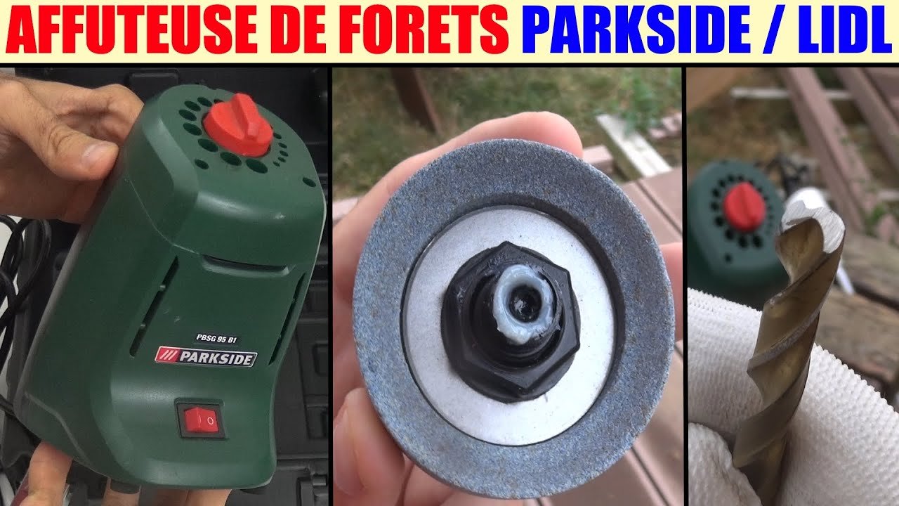 Extraordinaire affuteuse de forets lidl parkside pbsg 95 drill sharpening machine MY-52