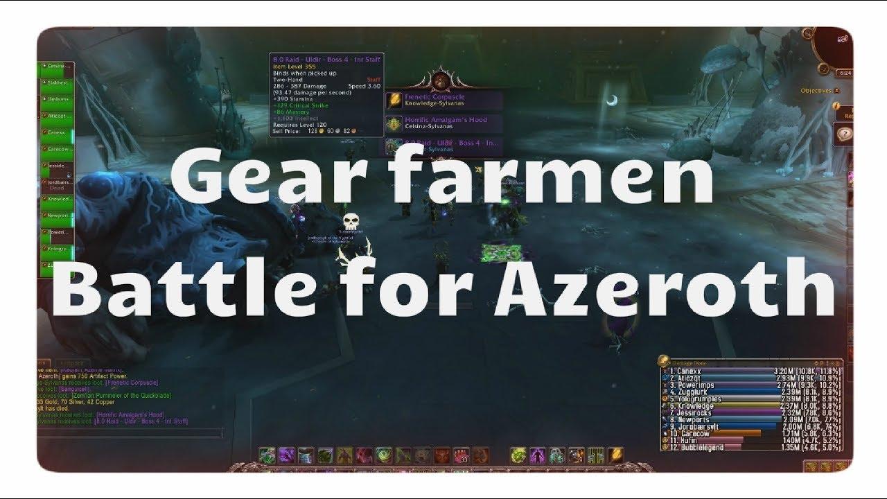 Wow Gear Farmen In Battle For Azeroth Mit Item Level Tabelle Youtube