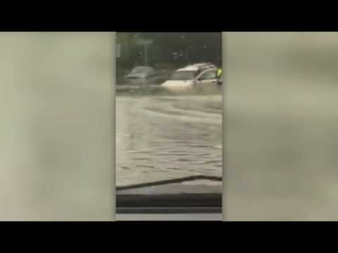 Woman and baby saved out of flood waters in Texas