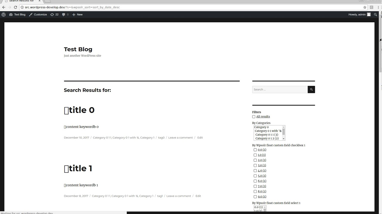 WPSOLR – Elasticsearch and Solr search – WordPress plugin