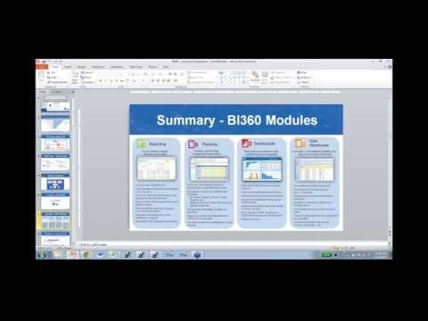 Reporting, Budgeting, and Dashboards with BI360 - Overview & Demonstration