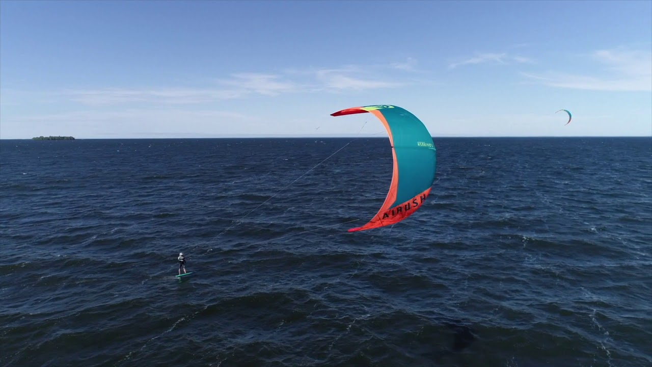 Kiteboarding at Twilight Rd, Mille Lacs Lake, MN, June 1 2018