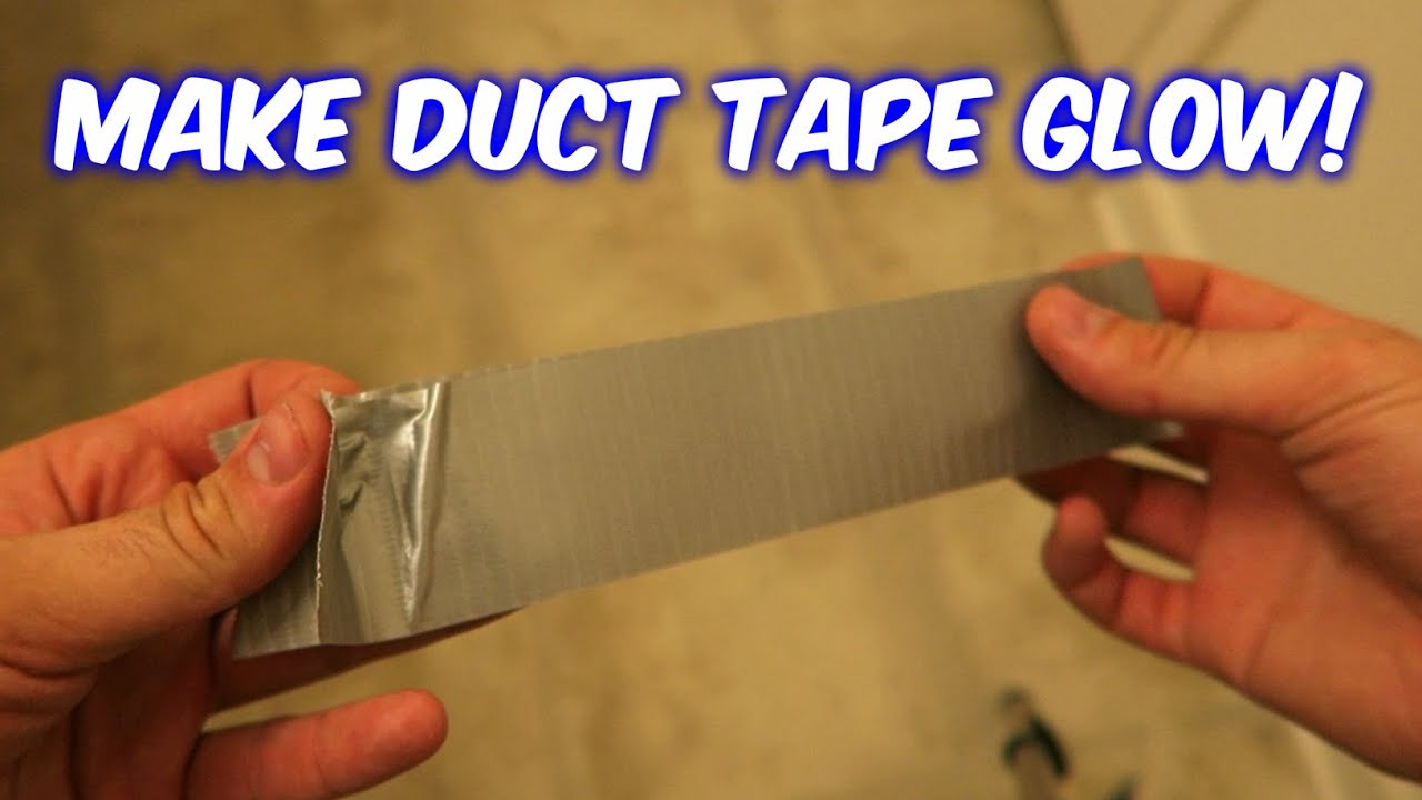 How to make duct tape glow youtube aloadofball Image collections