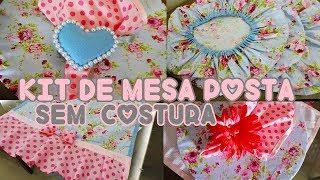 Kit de Mesa Posta sem Costura – DIY – Souplast – Guardanapo – Porta Guardanapo