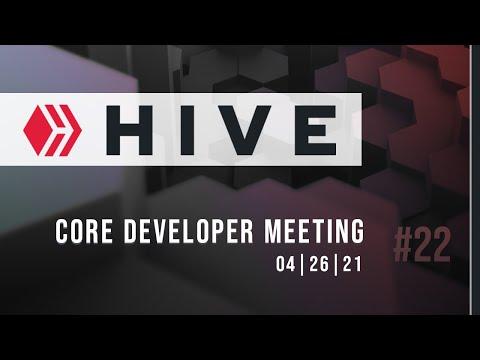 Hive Blockchain Core Developer Meeting #22