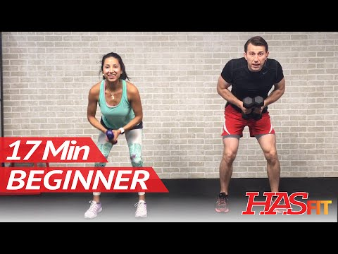 17 Min Strength Training Workout for Beginners - Beginner Workout Routine at Home for Women & Men
