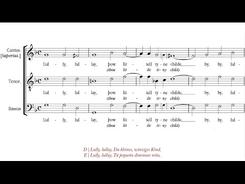"Anonymous 16th century | The ""Coventry Carol"" [""Lully lullay"", á 3; Sospiri Choir]"