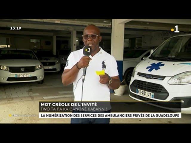 Interview de Rosan VINCENT Dirigeant de SAINTE-ANNE AMBULANCE -JT 13h Guadeloupe