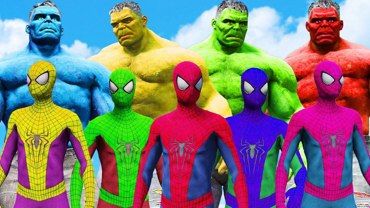 World War Hulk & Spider Man Universe   Red Hulk & Blue ...