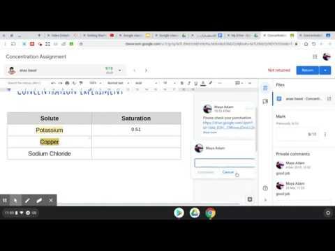 إنشاء الواجب وتصحيحة في جوجل كلاس روم