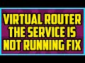 Cannot Manage Virtual Router The Service Is Not Running FIX (EASY) - Virtual Router Manager Fix 2016