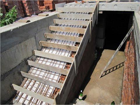 Как залить ступеньки из бетона опалубка видео