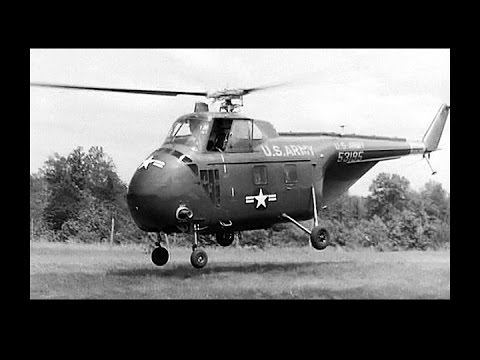 Flying the Sikorsky H-19 Chicasaw Helicopter (Restored -1956)