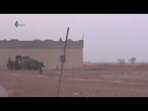Raqqa - Wrath of Euphrates: ISIS fighter suicide attack near SDF fighters 14-2-2017