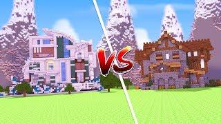 Minecraft: CASA MODERNA VS. CASA ANTIGA  ‹ JUAUM ›