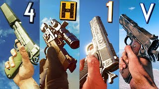 Playing with the M1911 PISTOL in different Battlefield games... 2020