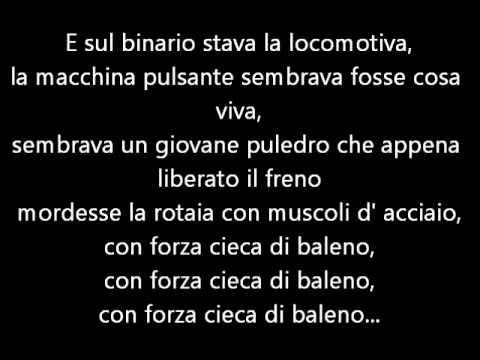 Francesco Guccini - La Locomotiva- testo