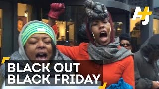 'Blackout Black Friday' Protesters Shut Down Chicago Shopping Areas