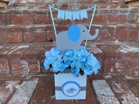 Decoracion De Mesa Para Baby Shower.Centro De Mesa De Elefante Para Baby Shower Elephant Baby