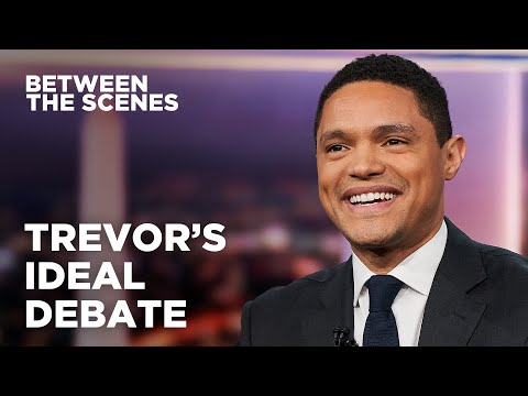 Trevor's Ideal Presidential Debate - Between the Scenes   The Daily Show