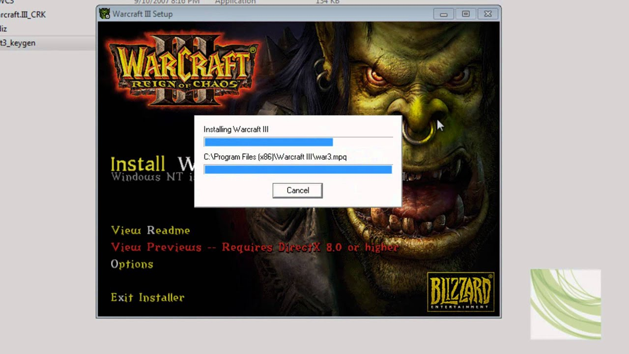 How To Install Warcraft 3 Reign Of Chaos No Cd Required 100
