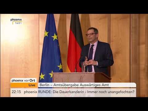 Amtsübergabe Auswärtiges Amt in Berlin vom 14.03.2018