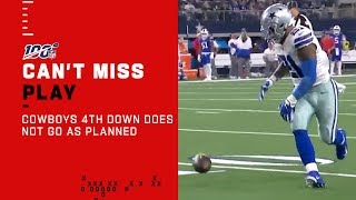 Cowboys 4th Down Does Not Go As Planned...