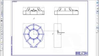 САПР Компас-3D. Создать чертеж с 3D модели, разрезы