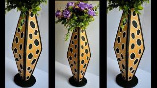 How To Make Cardboard Vase | How to Make Vase | DIY Vase | artmypassion