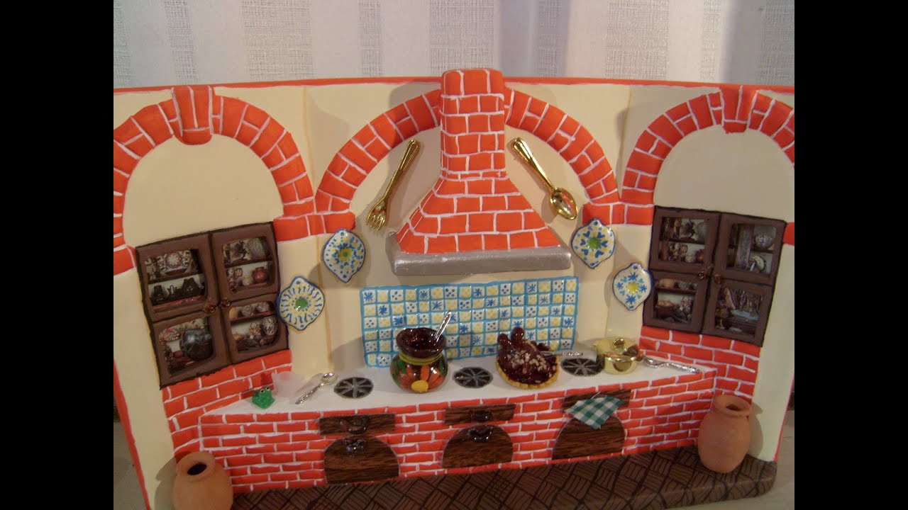 Diy c mo pintar una cocina de cer mica con adornos tipo - Como distribuir una cocina ...