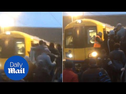 Passengers Spill Onto Platform After Train Fills With Smoke - Daily Mail