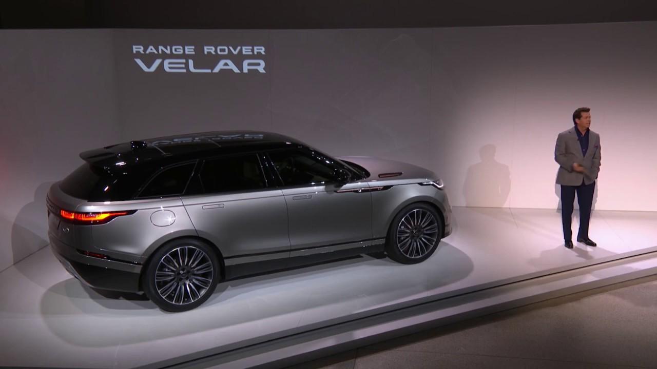 The New Range Rover Velar Live Reveal From The Design