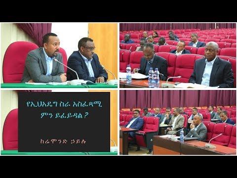Ethiopia: የኢህአዴግ ስራ አስፈጻሚ ምን ይፈይዳል ?  በሬሞንድ ኃይሉ