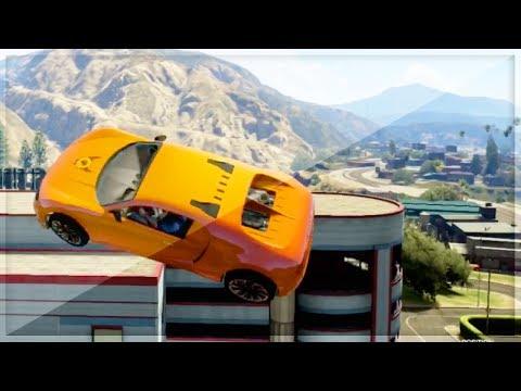 GTA 5 Funny Moments - Stunts With Dummies...