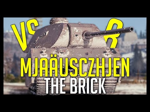 "► Mjaäusczhjen, ""The Brick"" vs 8! - World of Tanks Mäuschen Gameplay thumbnail"