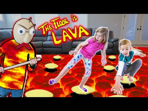 Floor Is LAVA And Baldi Is Lava Monster!